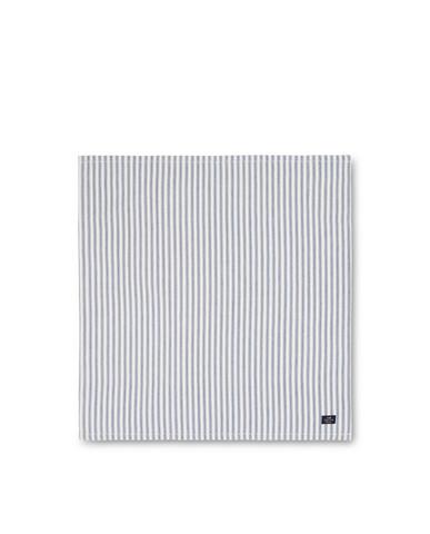 Icons Cotton Herringbone Striped Napkin, Blue/White 50x50, Lexington