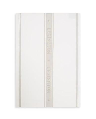 Icons Cotton Jacquard Star Kitchen Towel, White/Beige 50x70, Lexington