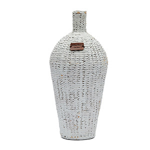RM Water Hyacinth Vase white, Riviera Maison