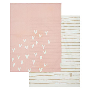 Lots Of Love Tea Towel 2 pcs, Riviera Maison