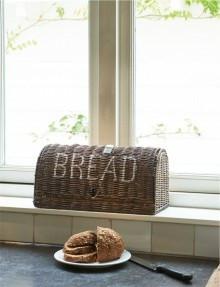 Rustic Rattan Bread Box, Riviera Maison