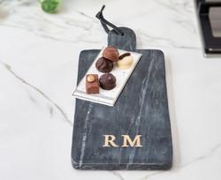 Magic Marble Serving Plate black, Riviera Maison