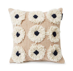 Rug Flower recycled cotton canvas pillow cover  50x50, Lexington
