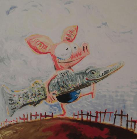 Viivi ja Wagner -serigrafia: Hauki on kala