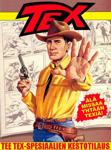 Tex Willerin erikoisnumeroiden jatkuva tilaus