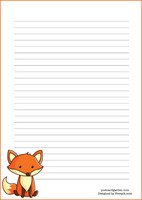 Fox - writing papers (A4, 10s) #1