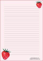 Strawberry - writing papers (A4, 10s)