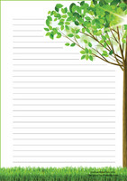 Tree - writing papers (A5, 10s)