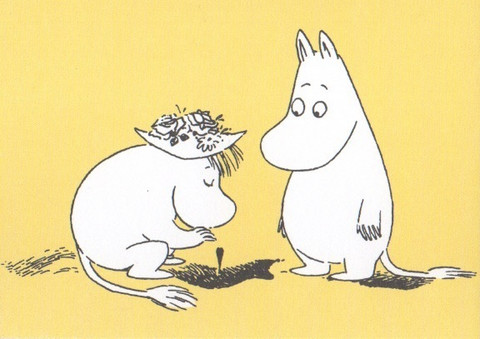 Snork Maiden and Moomintroll