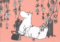Moomin mamma on the bed