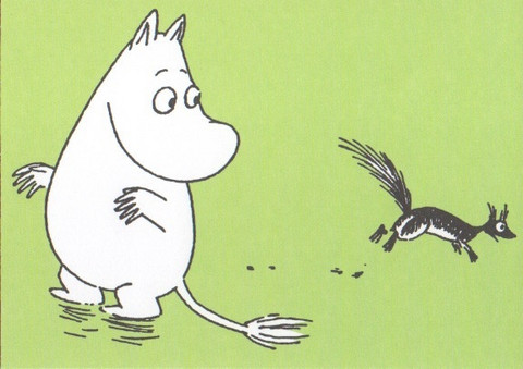 Moomintroll and squirrel