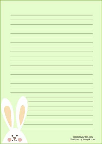 Bunny head - writing papers (A5, 10s)