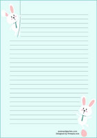 Easter bunnies - writing papers (A5, 10s) #1