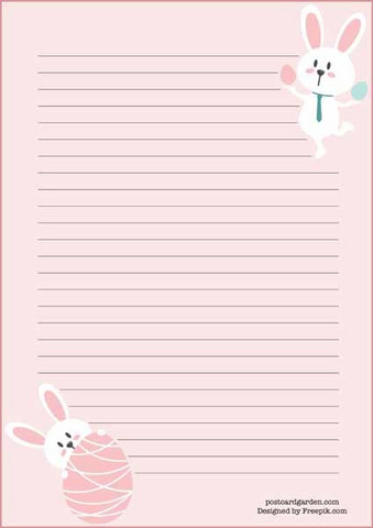 Easter bunnies - writing papers (A5, 10s) #2