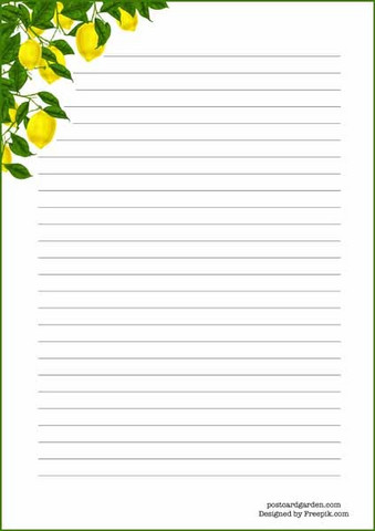 Lemon tree - writing papers (A5, 10s)
