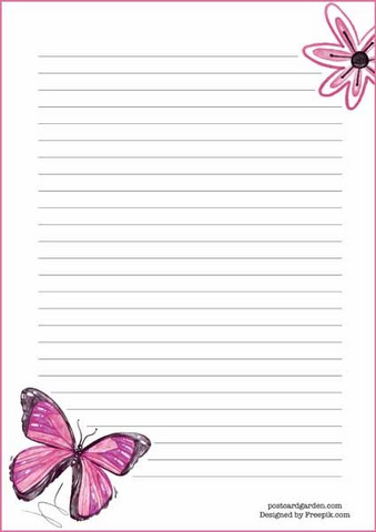 Butterfly - writing papers (A5, 10s) #1