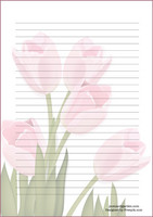 Tulip - writing papers (A5, 10s)