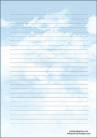 Sky - writing papers (A5, 10s)