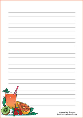 Fruit juice - writing papers (A5, 10s)