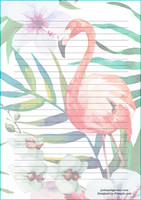 Flamingo - writing papers (A5, 10s) #2