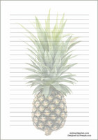 Pineapple - writing papers (A5, 10s) #2