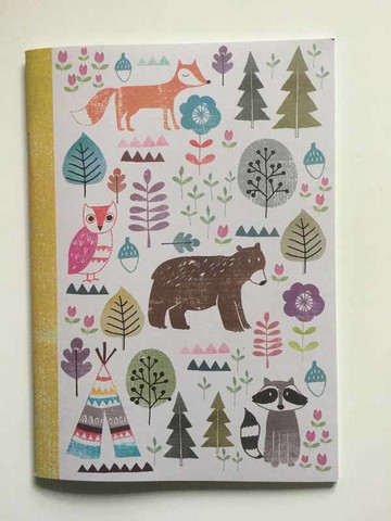 Notebook -  Forest animals (15x21cm, 48p)