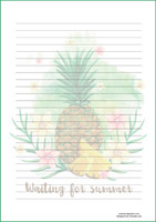 Pineapple - writing papers (A4, 10s)