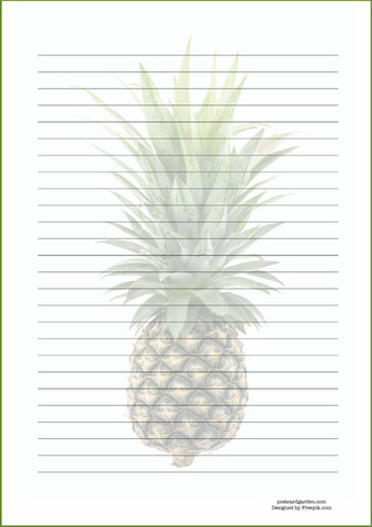 Pineapple - writing papers (A4, 10s) #2