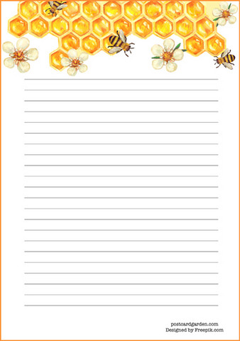 Bees - writing papers (A5, 10s)