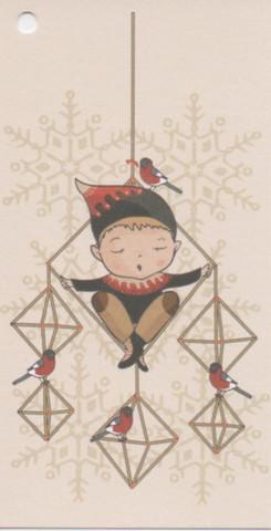 Christmas gift tag - Himmeli
