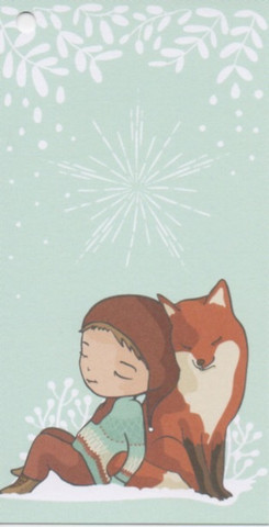Christmas gift tag - Fox