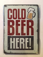 Cold beer here - magnet