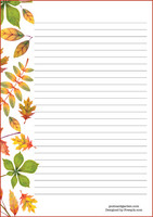 Autumn leaves - writing papers (A5, 10s)