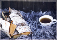 Tea and birch firewood