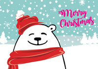 Merry Christmas polar bear
