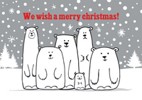 We wish a Merry Christmas polar bears