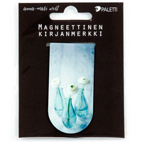 Flowers in bottles (magnetic bookmark)