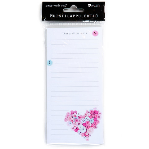 Important things - magnetic notepaper pad