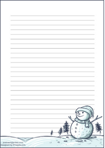 Snowman - writing papers (A5, 10s)