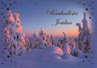 Joulukortti - Luminen maisema #2