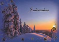 Joulukortti - Luminen maisema #7