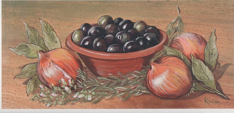 Greek harvest (10.5 x 21 cm)