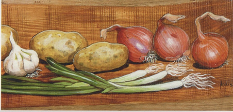 Onions and potatoes (10.5 x 21 cm)