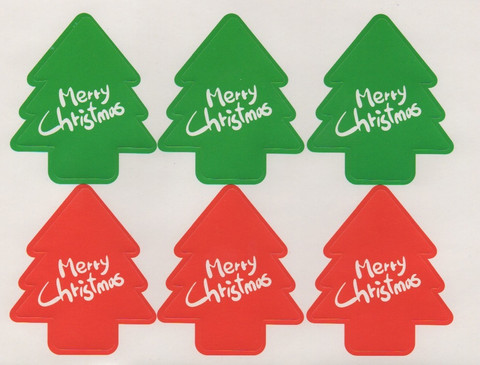 Merry Christmas tree - sticker sheet