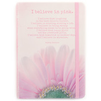 I believe in pink -notebook (12.5x17,5cm)