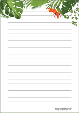Green leaves - writing papers (A5, 10s)