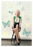 Marilyn and butterflies