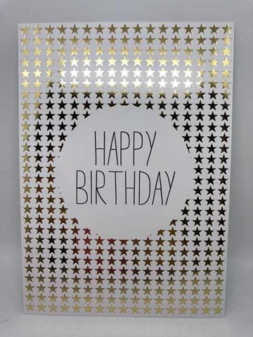 Happy birthday - foiled postcard #2