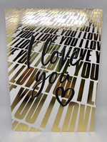 I love you - foiled postcard