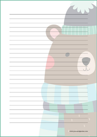 Big bear - writing papers (A4, 10s)